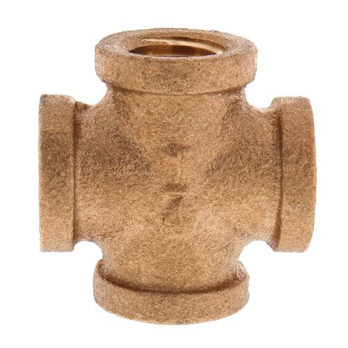 "1/4"" Brass Cross (Lead Free) Product Image"