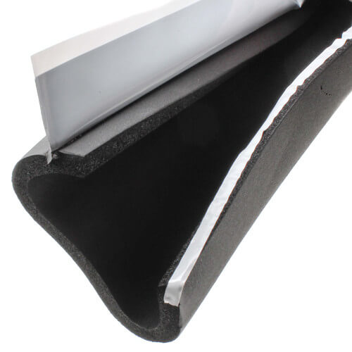 """2-1/8"""" Pipe (O.D.) x 3/8"""" AP Armaflex Black Lap Seal Pipe Insulation, 6' Product Image"""