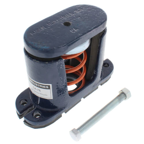 """1"""" Deflection Spring Floor Mount Vibration Isolator (75 lbs Capacity) Product Image"""