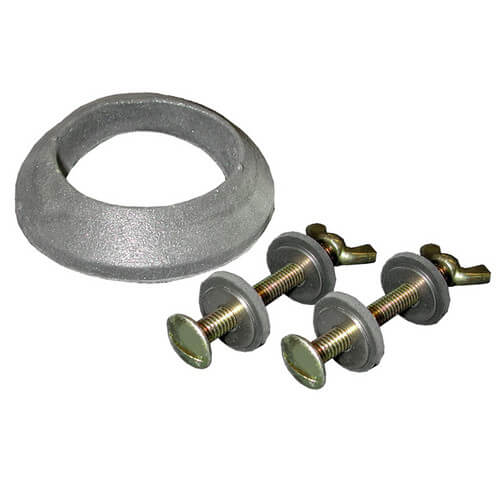 """5/16"""" x 3"""" Brass Tank to Bowl Bolt Set w/ Gasket and Wing Nut (box of 25 pairs) Product Image"""
