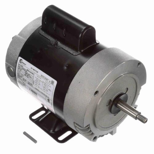 "Capacitor Start NEMA ""C"" Face Rigid Base Motor, 1/2 HP, 1725 RPM (115/230V) Product Image"