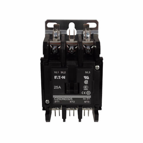 3-Pole Definite Purpose Contactor (110/120V, 25 Amp) Product Image