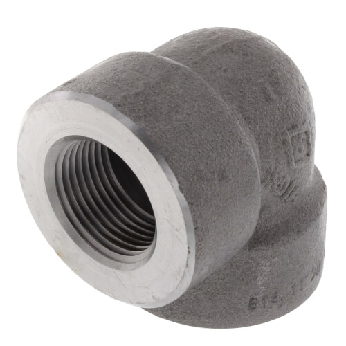 """1"""" 3000# A105N Carbon Steel 90° Elbow NPT Product Image"""