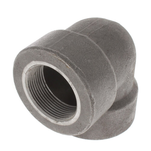 """1-1/2"""" 3000# A105N Carbon Steel 90° Elbow NPT Product Image"""