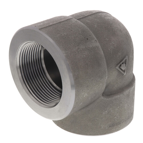 """2-1/2"""" 3000# A105N Carbon Steel 90° Elbow NPT Product Image"""