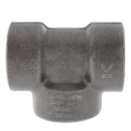 "3/4"" 3000# A105N Carbon Steel Tee NPT Product Image"