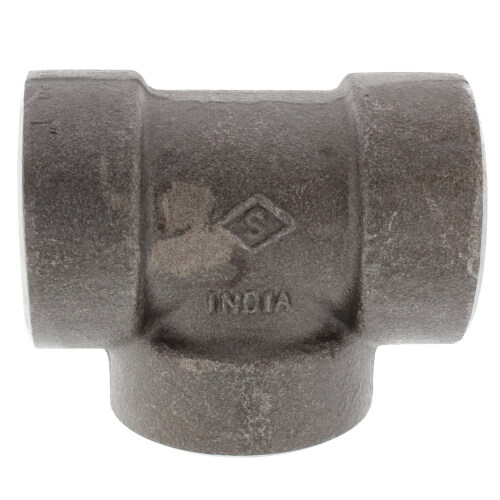 """1"""" 3000# A105N Carbon Steel Tee NPT Product Image"""