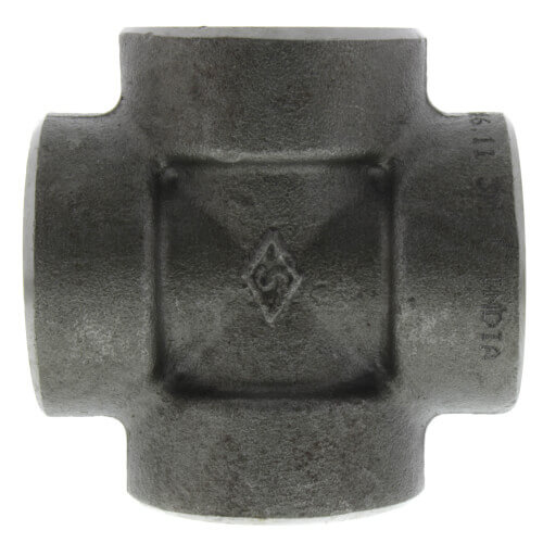 """1/2"""" 3000# A105N Carbon Steel Cross (NPT) Product Image"""