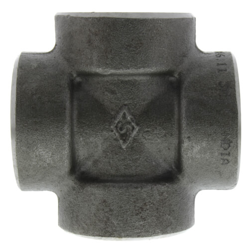 """1"""" 3000# A105N Carbon Steel Cross (NPT) Product Image"""