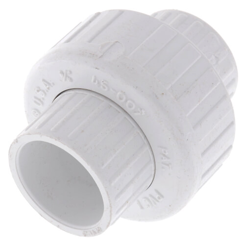 """3/4"""" PVC Sch. 40 Socket Union w/ Buna-N O-ring (OLD STYLE) Product Image"""