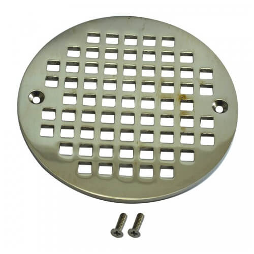 """5.196"""" Heavy Duty Round Cast Brass Strainer (Brushed Nickel) Product Image"""