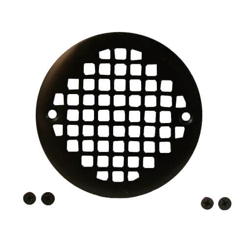 """4-1/4"""" Heavy Duty Round Cast Brass Strainer (Oil Rubbed Bronze) Product Image"""
