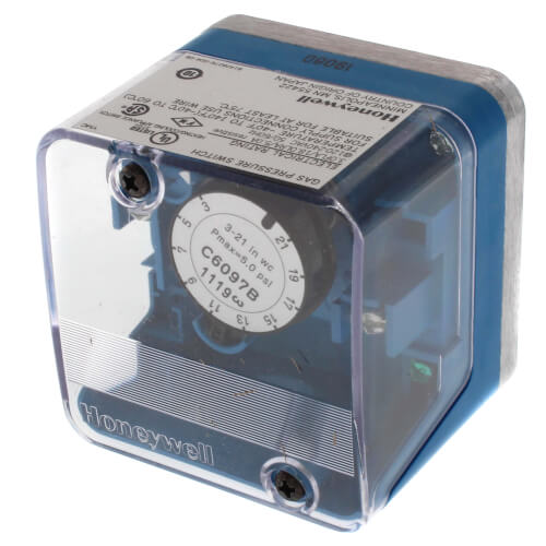 Honeywell 3 to 21 in C6097B1069 Pressure Switch w.c. Inc ...