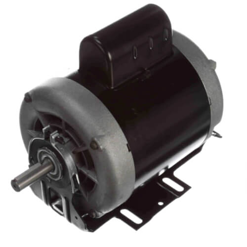 "6-1/2"" Capacitor Start Resilient Base Motor w/ Sleeve Bearing (208-230/115V, 1725 RPM, 3/4 HP) Product Image"