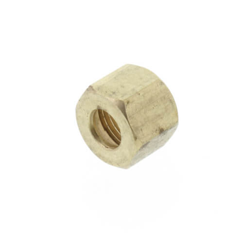 """(61-4) 1/4"""" OD Brass Compression Nut, Lead Free (Bag of 10) Product Image"""