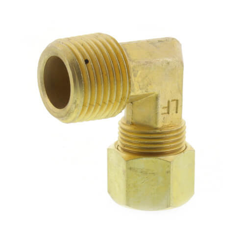 """(69-66) 3/8"""" OD x 3/8"""" MIP Brass Compression Elbow (Lead Free) Product Image"""