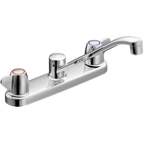 Cornerstone Two-Handle Kitchen Faucet (Chrome) Product Image