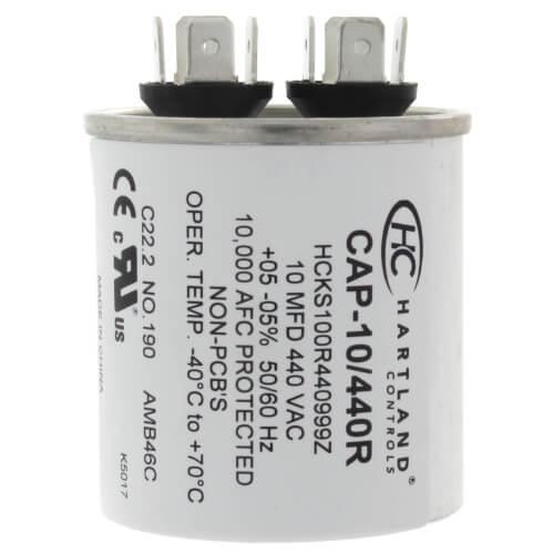 10 MFD Round Run Capacitor (370/440V) Product Image