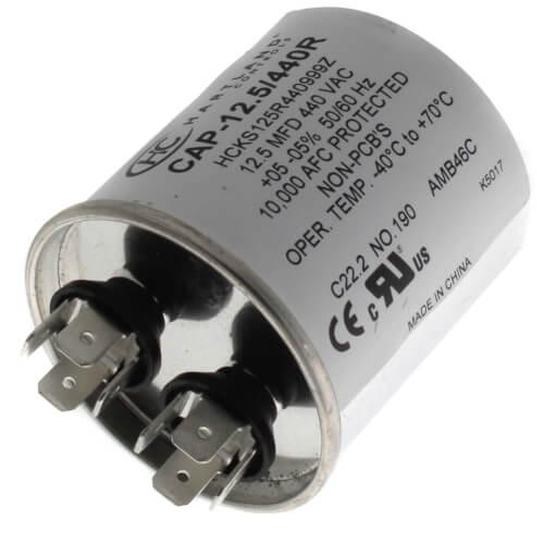 12.5 MFD Round Run Capacitor (370/440V) Product Image