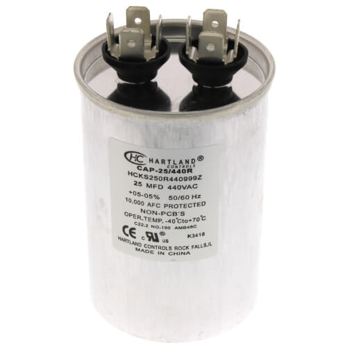25 MFD Round Run Capacitor (370/440V) Product Image