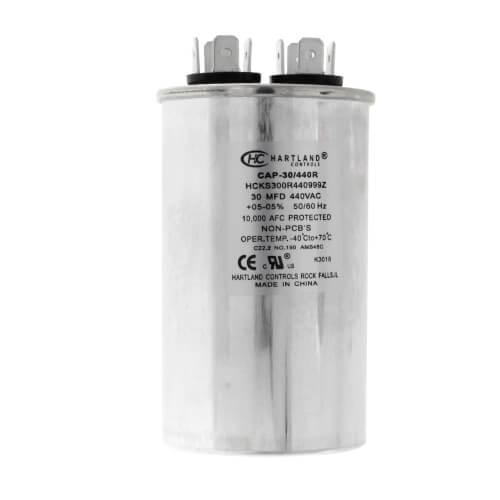 30 MFD Round Run Capacitor (370/440V) Product Image