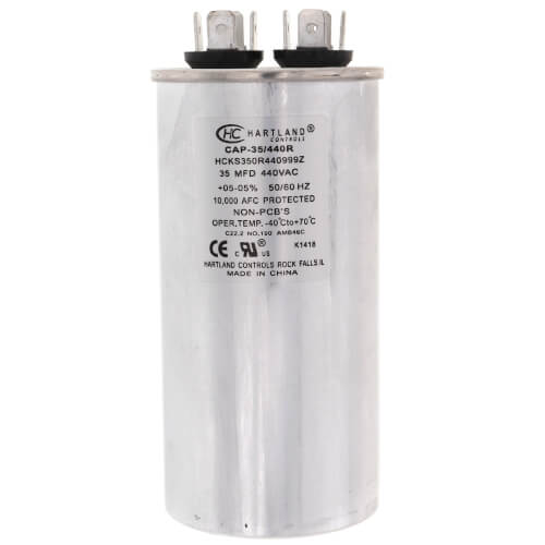 35 MFD Round Run Capacitor (370/440V) Product Image