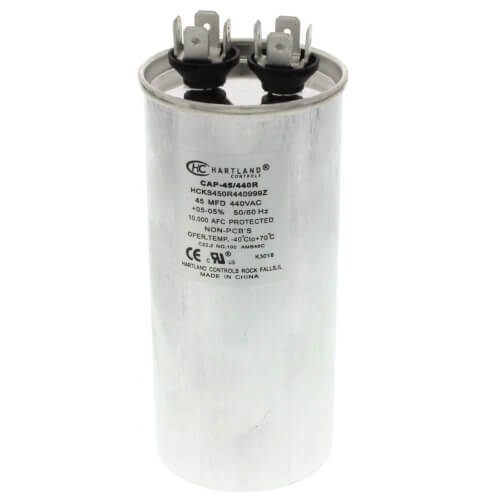 45 MFD Round Run Capacitor (370/440V) Product Image