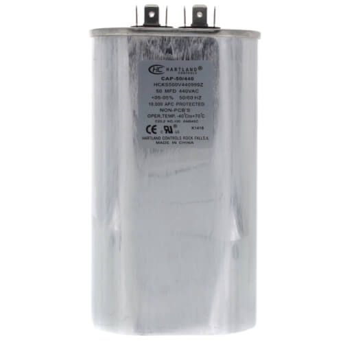 50 MFD Oval Run Capacitor (370/440V) Product Image