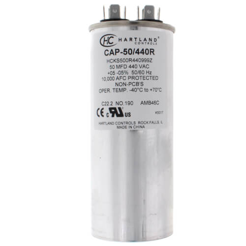 50 MFD Round Run Capacitor (370/440V) Product Image