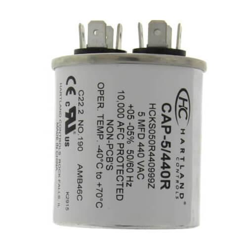 5 MFD Round Run Capacitor (370/440V) Product Image