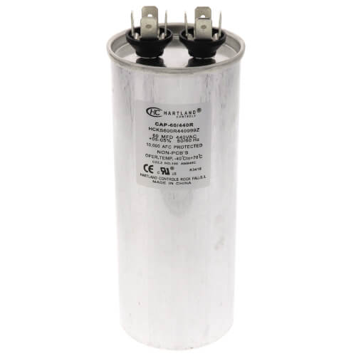 60 MFD Round Run Capacitor (370/440V) Product Image