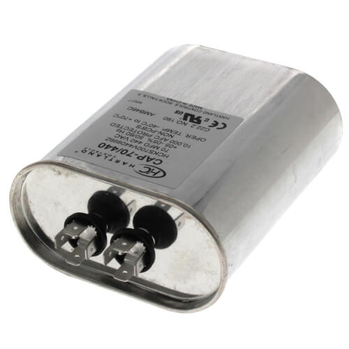 70 MFD Oval Run Capacitor 370 440V Product Image