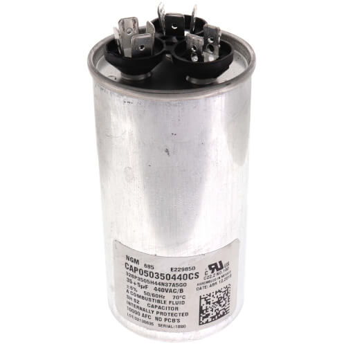 5/35 MFD 440V Dual Round Run Capacitor Product Image