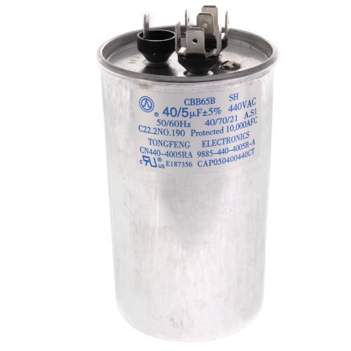 440V Dual Round Capacitor (40/5 MFD) Product Image