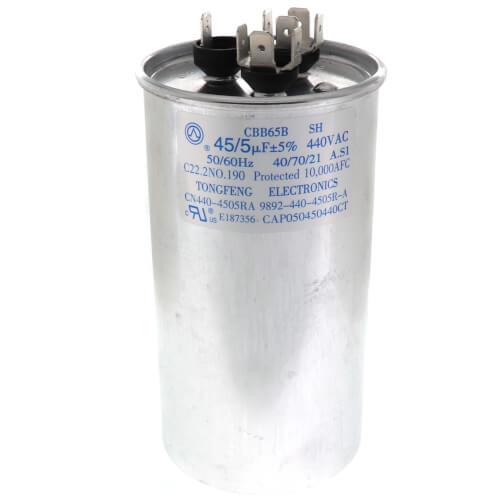 45/5MFD 440V Dual Run Capacitor Product Image