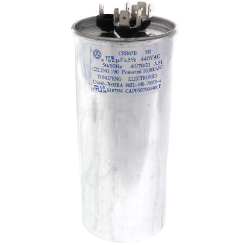 70+5 MFD 440V Dual Capacitor Product Image