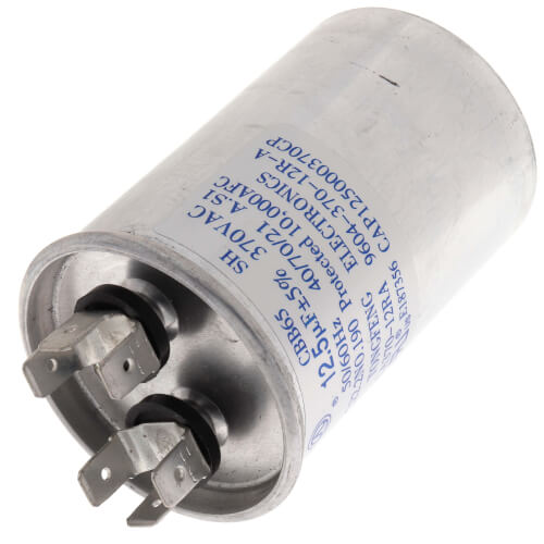 Goodman-Amana CAP125000370RPP Round Run Capacitor 12.5 MFD 370V