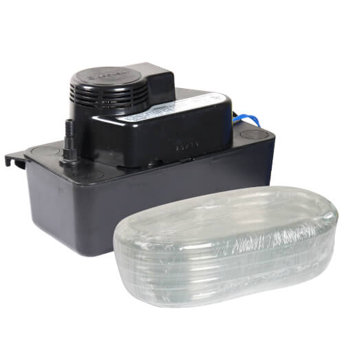 """Medium Low Pro Condensate Pump, 20 Ft Shutoff with 3/8"""" ID PVC Tubing (1/30 HP, 115V) Product Image"""