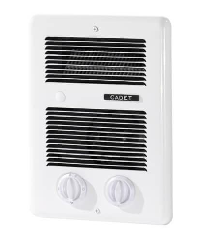 Com-Pak Bath White Forced-In-Wall Fan Heater, 1000 Watt (240/120V) Product Image