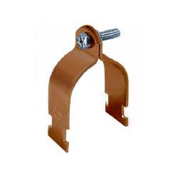 "3/8"" Copper Epoxy Coated Multi-Strut Pipe Clamp Product Image"