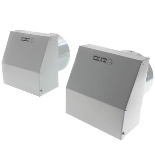 "COM6M Metal Supply & Exhaust Outdoor Hoods, 6"" Duct (Pair) Product Image"