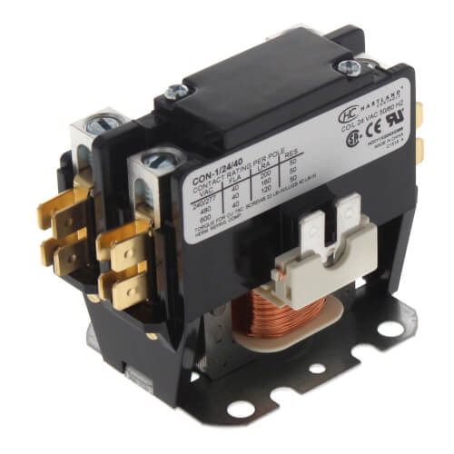 1 Pole Contactor w/ Shunt (24V, 40 Amp) Product Image