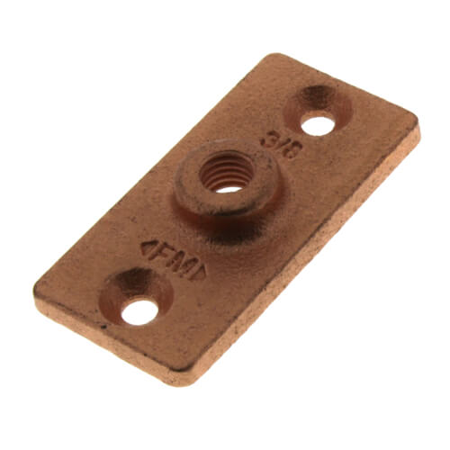 """3/8"""" Copper Plated Ceiling Plate Product Image"""