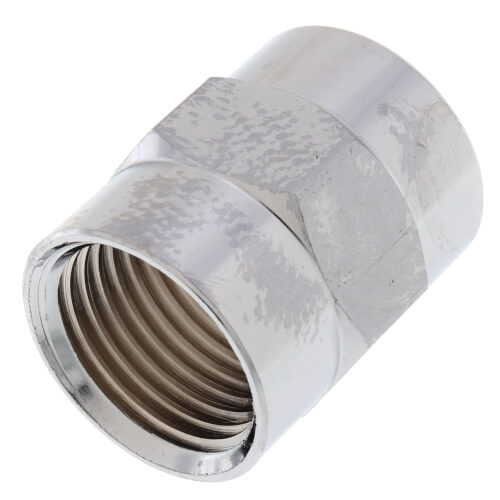 """1/2"""" Chrome Brass Coupling (Lead Free) Product Image"""
