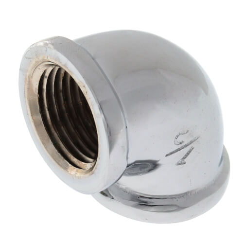 "1/2"" Chrome Brass 90° Elbow (Lead Free) Product Image"