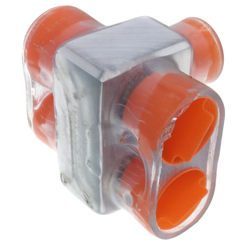 Multi-Tap Encapsulated Cable Block, 2-Way Config., 2 Outlets, 500 AWG-6 Str Product Image