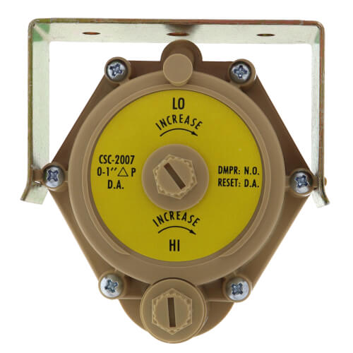 Pneumatic VAV Reset Volume Controller - Direct Acting, Paper Label Dial, NO w/ Bracket Product Image