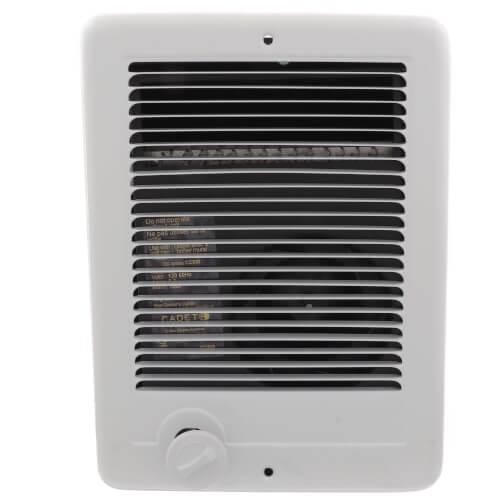Com-Pak-Plus White Wall Fan Heater w/o Thermostat, 1000 Watt (120V) Product Image