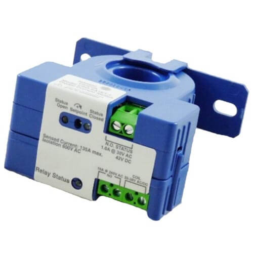 Current Sensing Relay, Solid Core Fixed 0.25 A, Current Range 0.25 to 200A Product Image