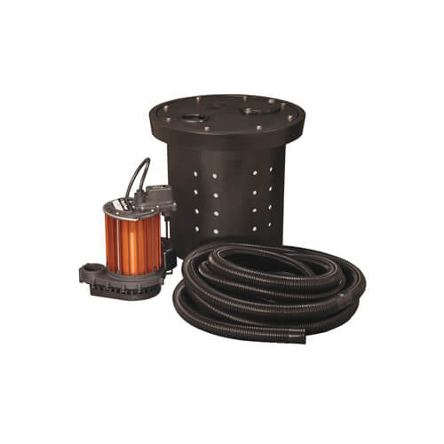 Crawl Space Sump Kit, 1/3 HP, w/ Basin, Hose Kit & Cover Product Image